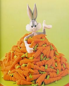 debbie brown cartoon cakes, punny in the middle of a lot of carrots. please like and share it to your timeline & friends: http://pinterest.com/travelfoxcom/pins/