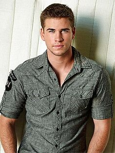 Liam Hemsworth #hottie Literally can't wait until #hungergames2 comes out.