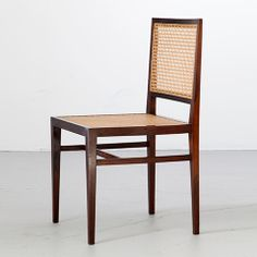 """(Designer Unknown), Brazil Chair in jacaranda with cane seat and back. Made by Branco & Preto, Brazil. (seat: 17""""H)"""