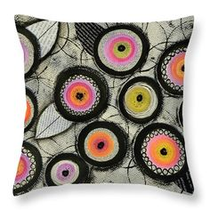 Flowers Throw Pillow featuring the painting Flower Series 2 by Graciela Bello