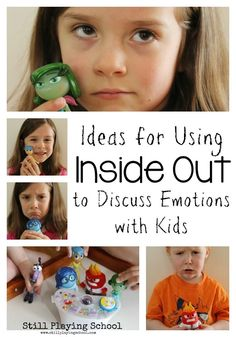 Ideas for Using The Movie and Toys from Inside Out to Discuss Emotions with Kids (Including a FREE printable) from Still Playing School