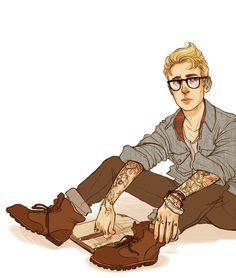 Another commission for Annelise;pre-serum, modern-day hipster!Steve Rogers, which is the cutest request I've had in a while. Had fun doing this. :)) my commission info is here.---> leaving credit this is my new favorite thing