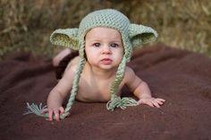Star Wars Yoda Baby Hat size Newborn 0 3m 6m by NitaMaesGarden