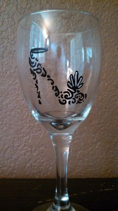 Shoe hand painted wine glass by designsforyourwine on Etsy, $20.00