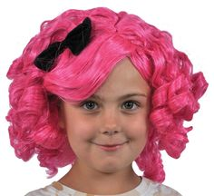 lalaloopsy crumbs sugar cookie girls costume pink wig