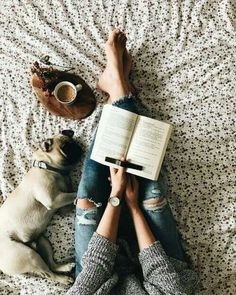 good coffee, good book, good cozy spot, and the absolute best companion. I Love Books, Good Books, Books To Read, Coffee And Books, Book Photography, Bookstagram, Photos, Pictures, Book Lovers