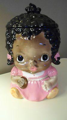 Vtg Black Americana 1978 Girl Mammy Cookie Jar Great Condition Sears RARE | eBay ~~~LOVE it!!!!