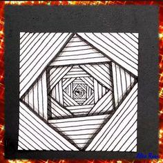 Optical Illusions Drawings, Illusion Drawings, Illusion Art, Art Drawings Beautiful, Art Drawings Sketches Simple, Cool Drawings, Drawing Ideas, Doodle Art Drawing, Mandala Drawing