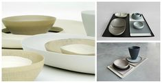 Stoneware dishes by Rina Menardi.