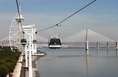 Parque das Nações in Lissabon - Teleférico cable car Hotels, Community, Cars, World, Projects, Travel, Parks, Architecture, Lisbon