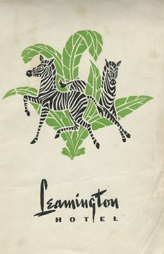 Menu cover Leamington Hotel, 1947, Oakland, Ca.