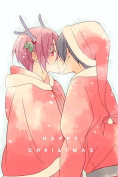 Free! Iwatobi Swim Club Christmas Anime Rin x Haru