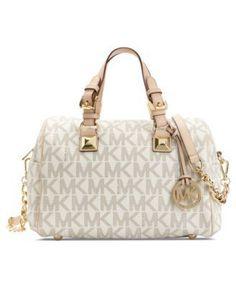 MICHAEL Michael Kors Grayson Monogram Medium Satchel - Handbags  Accessories - Macys