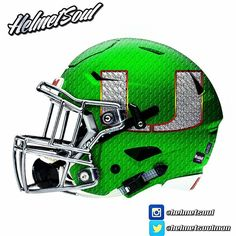 "New Miami Hurricane ""platinum hurricane"" helmet design by Helmetsoul. More to…"