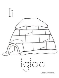 igloo coloring pages teachers - photo#42