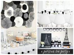 Mesas para a festa preto e branco - Fotos: Pinterest