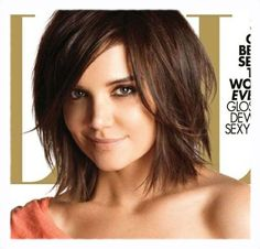 Katie Holmes Sideswept bangs.....love this if I ever get enough courage to change my hair style.