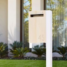 Modern Custom Mailbox Javi Post Mounted Letterbox door JaviDesign