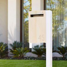 Modern Custom Mailbox Javi Post Mounted Letterbox von JaviDesign