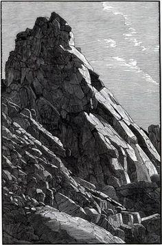 Along Path to Lake ~ Wood Engraving ~ Richard Wagener