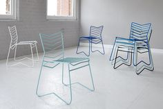Introducing Kai - a stackable, metal framed chair, designed and manufactured in Britain | Daniel Lau Design