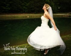 Love the bride twirling!