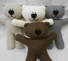 **This is a PDF Knitting Pattern, available for immediate download, for a Teddy Bear, in English only.**  This Teddy Bear is very easy to knit. The pattern would make a great project for a beginner as, along with the written pattern, there is also a series of pictures to show what each stage should look like. There are some tutorials on YouTube - The Baldy Sheep - to help you along too! You will learn casting on (thumb method and two needle method), knitting, increasing, decreasing and…