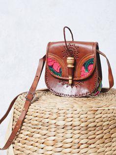 Flora Tooled Saddle Bag from Free People!