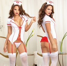 Women's Exotic Apparel Babydolls & Chemises Humorous 1pc Erotic Sexy Uniform Nurse Cosplay Sexy Costumes Halloween Role Play Sexy Women Babydoll Chemises Lingerie Sexy Dress Gift