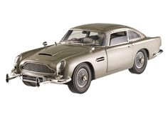 Silver Aston Martin DB5 diecast model car by Hotwheels from James Bond 007: Goldfinger the movie.