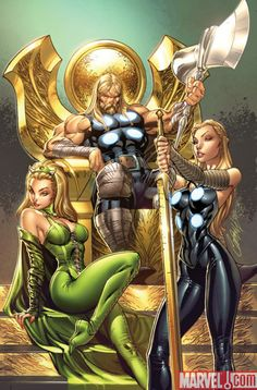 ULTIMATE COMICS THOR 1 cover by *J-Scott-Campbell on deviantART #Thor #Marvel #avengers #Vengadores . Pin and follow @Pyra2elcapo