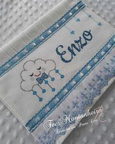 New Embroidery Designs, Hand Embroidery Videos, Crochet Baby Bibs, Calendar Organization, Baby Towel, Office Items, Baby Crafts, Hello Kitty, Childhood