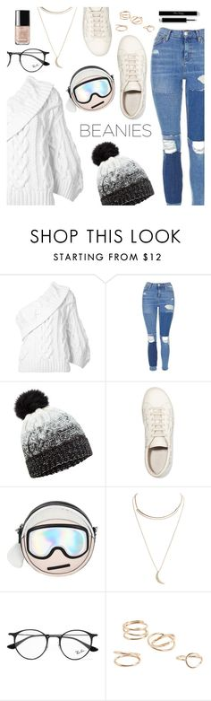 """Hat Head: Pom Pom Beanies"" by dressedbyrose ❤ liked on Polyvore featuring Rosie Assoulin, Topshop, Accessorize, Brunello Cucinelli, Karl Lagerfeld, Wet Seal, Ray-Ban, MANGO, polyvoreeditorial and pompombeanies"