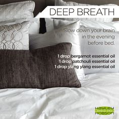 It's no secret that I'm a high energy person. The only problem with that is it can be hard to slow my brain down and actually relax. But this blend of BERGAMOT, PATCHOULI, and YLANG YLANG #essentialoils definitely help me take a deep breath! Give it a try! www.hayleyhobson.com
