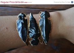 XMAS IN JULY Lux Divine Large Arrowhead Bracelet /// by luxdivine, $63.75