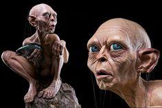La statua a grandezza naturale di Gollum