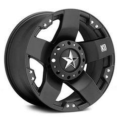 20 inch Black XD Rockstar Wheels Rims Chevy Truck C10 Jeep Wrangler JK 5x5 SET 4