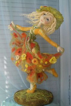"Collectible handmade dolls. Fair Masters - handmade Dolls ""Dance Sunny Summer"" .. Handmade."