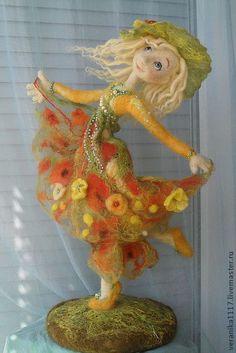 "Collectible handmade dolls. Fair Masters - handmade Dolls ""Dance Sunny Summer"" .. Handmade."