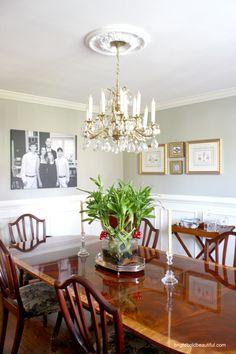 festive dining room centerpiece