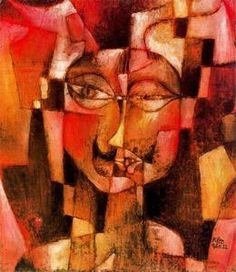 Paul Klee - German head with mustache