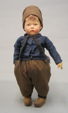 Oustanding Early Wide Hip Kathe Kruse Boy Doll Germany Circa 1915