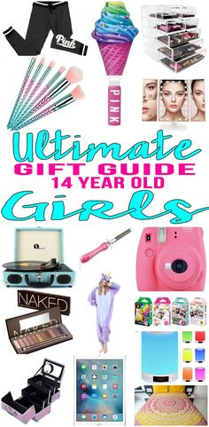 BEST Gifts 14 Year Old Girls! Top gift ideas that 14 yr old girls will love! Find presents & gift suggestions for a girls 14th birthday, Christmas or just because. Cool gifts for teen girls on their fourteenth bday. Wondering what to get a 14 year old for her birthday? We have you covered - get popular gift ideas - from makeup to electronics to sports  & more - find the best gift ideas for a teenage girl! Amazing products for daughters, best friends & more. Shop what's trending for 1
