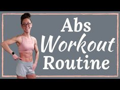 Abs Workout Routine- No Equipment home workout Flat stomach ab workout routine. This at home workout is the best way to tone and tighten your abs. Easy Ab Workout, Flat Abs Workout, Six Pack Abs Workout, 20 Minute Workout, Abs Workout Routines, Fitness Workout For Women, Workout Videos, At Home Workouts, Ab Routine