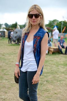 Sienna Miller at the 2013 Glastonbury Festival. The Best-Ever Summer Music Festival Street Style - Gallery - Style.com