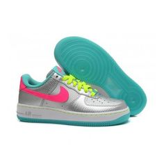buy online 4818a f9b56 Best Nike Air Force 1 Low Womens Shoes Silver Fluorescent Green Pink 0316
