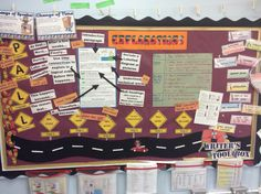 Year 5 explanations working wall.