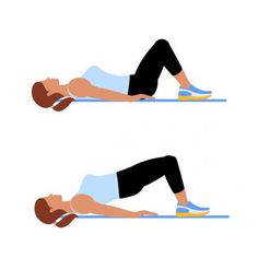 3. Glute Bridge #greatist https://greatist.com/fitness/abs-workout-7-minute-no-equipment-core-workout