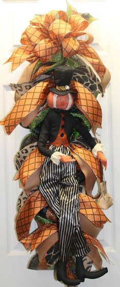 Halloween Pumpkin Man Swag by southernchicbyle on Etsy