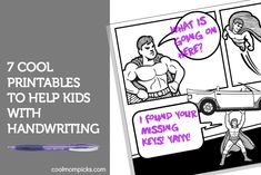 7 fun handwriting practice printables for kids, from pre-k to teen. It's not just worksheets!